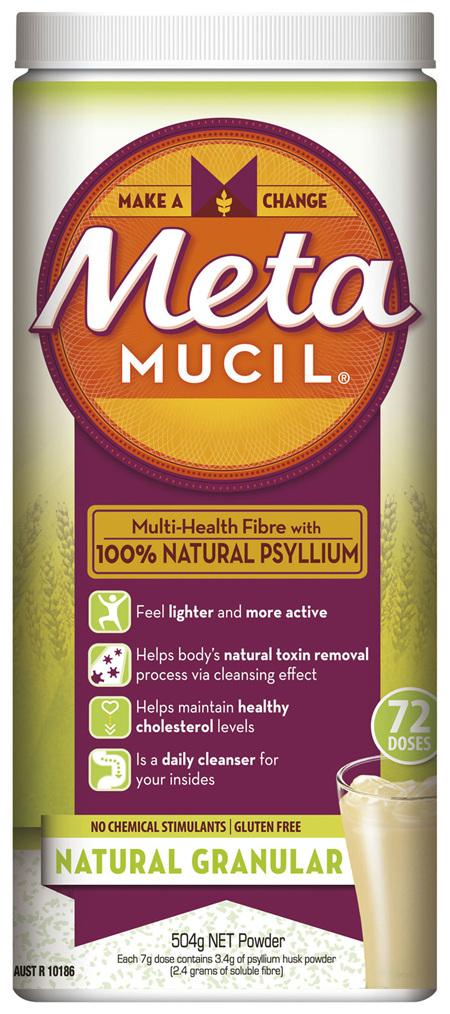 Metamucil Daily Fibre Supplement Natural Granular 72 Doses
