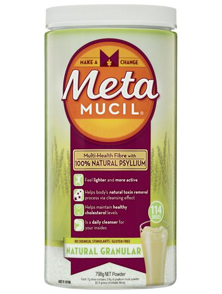 Metamucil Daily Fibre Supplement Natural Granular 114 Doses