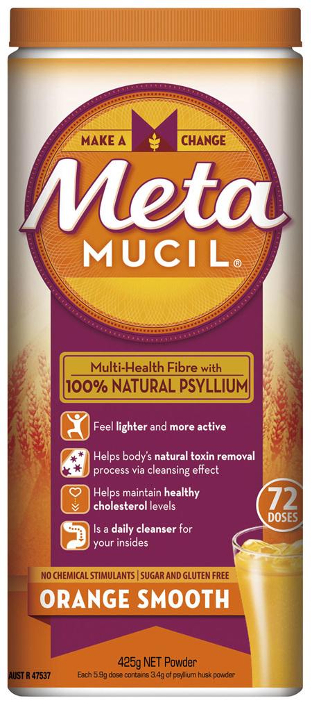 Metamucil Daily Fibre Supplement Smooth Orange 72 Doses