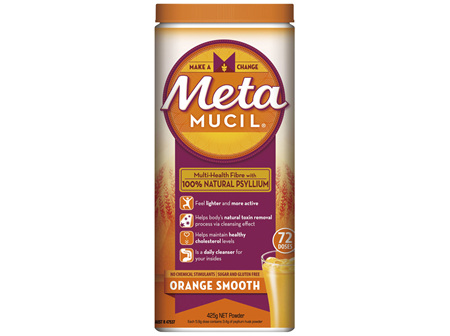 Metamucil Daily Fibre Supplement Smooth Orange 72 Doses