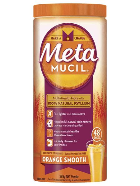 Metamucil Multi-Health Fibre with 100% Psyllium Natural Psyllium Orange Smooth 48D