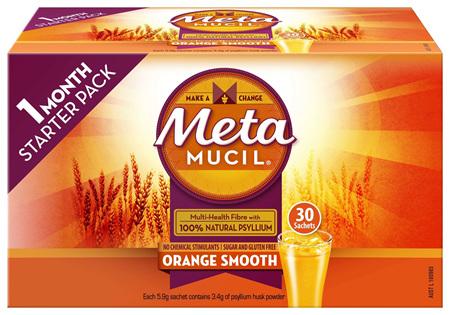 Metamucil Multi-Health Fibre with 100% Psyllium Natural Psyllium Orange Smooth 30D