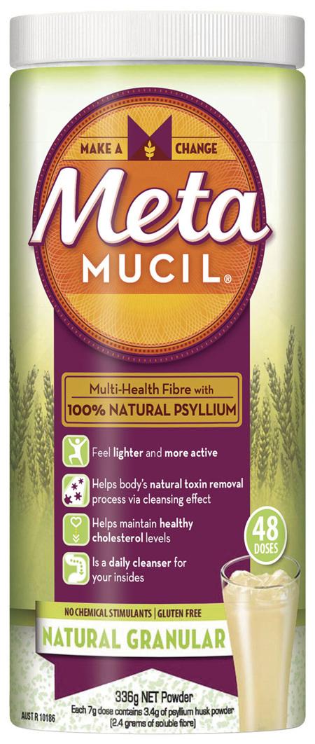 Metamucil Multi-Health Fibre with 100% Psyllium Natural Psyllium Natural Granular 48D
