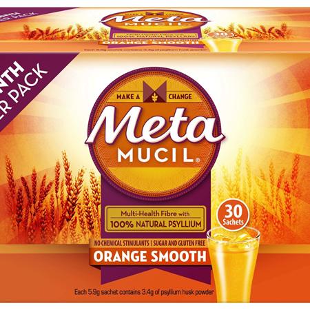 Metamucil Orange Smooth On The Go Fibre Supplement 30 Doses