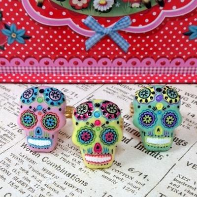 Mexican Sugar Skull Ring
