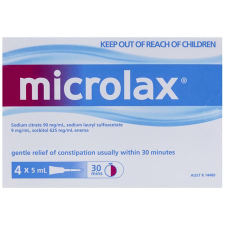 Microlax Enema 4 x 5mL Tubes