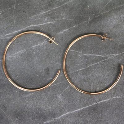 Mikaela Hoop Earrings - Rose Gold