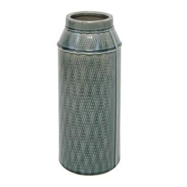 Mila Ceramic Vase - Denim - 31cmh