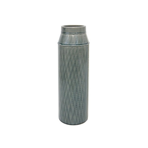 Mila Ceramic Vase - Denim - 41.5cmh