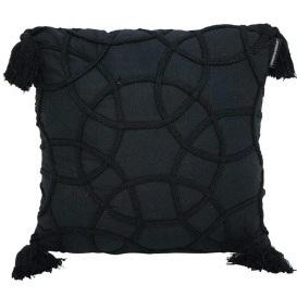 Milli Stonewash Cushion - Black 45x45cm