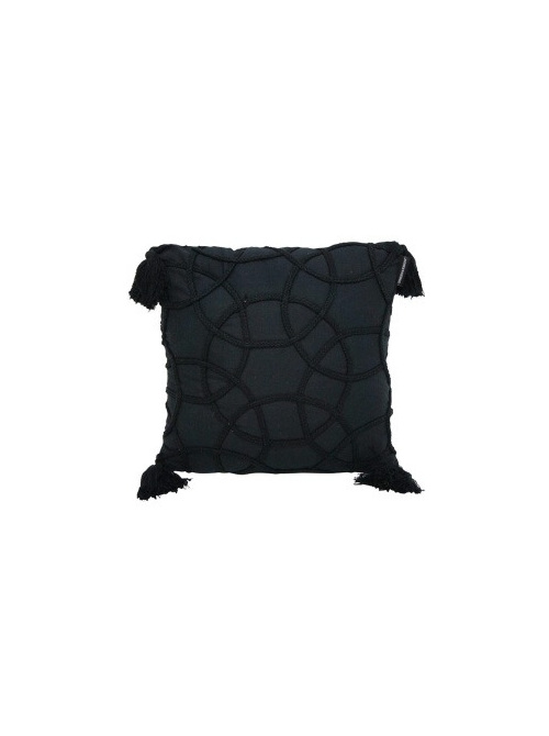 Milli Stonewash Cushion - Black 45x45cm