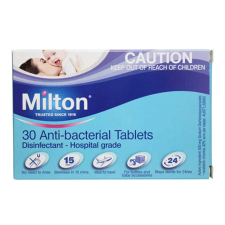 MILTON Antibacterial Tab 30pk