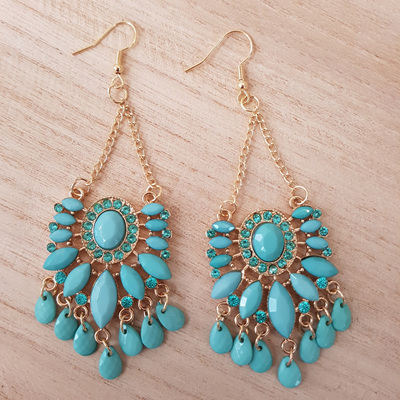 Mint droplet earrings