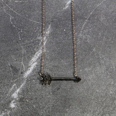 Missy Arrow Necklace - Gun Metal