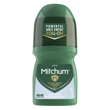 Mitchum Men's Roll On Unscented 50mL