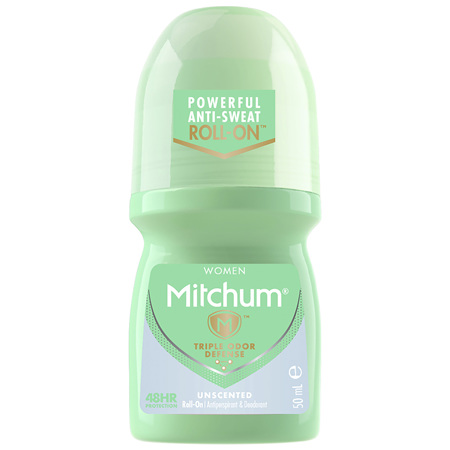 Mitchum Women's Roll On Unscented 50mL