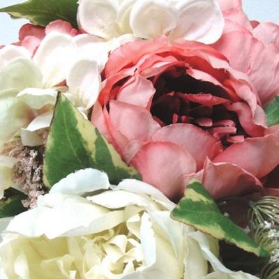 Mixed Vintage Peony Bouquet Pink/Cream
