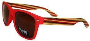 Moana Rd 50/50 Sunglasses - Red Striped #462