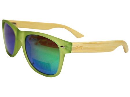 Moana Rd 50/50's Sunnies - Green with Reflective Lens #456