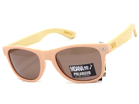 Moana Rd 50/50's Sunnies - Pink with Brown Lens #459