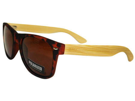 Moana Rd 50/50's Sunnies - Tortoise Shell with Wooden Arms #460