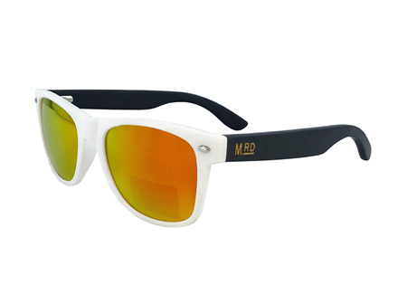 Moana Rd 50/50's Sunnies - White with Reflective Lens #454