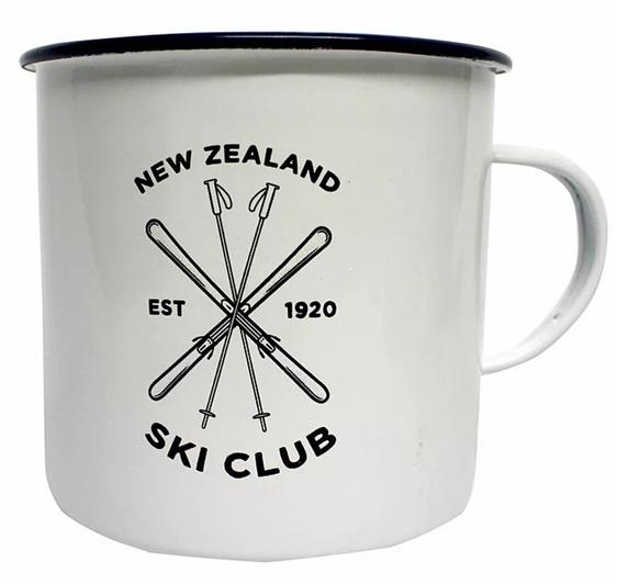 MOANA RD ENAMEL MUG SKI CLUB NZ