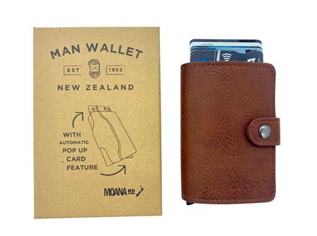 Moana Rd Men's Pop Up Wallet - Tan