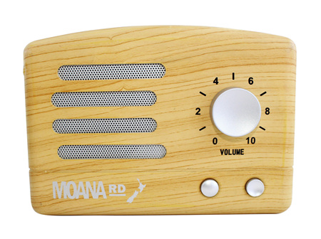 Moana Rd Pine Look Retro Speaker