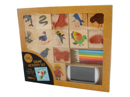 Moana Rd Tane and Ruby's NZ Tiki Tour Stamp Activity Set