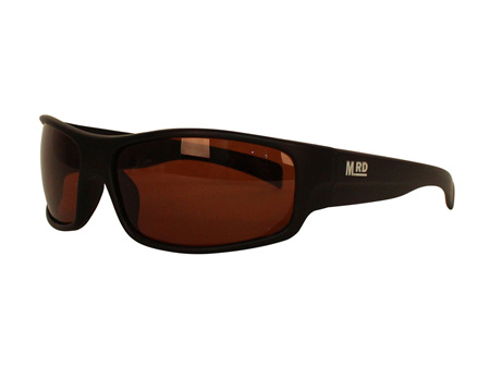 Moana Rd Tradies Sunnies - Black with Brown Lens #611