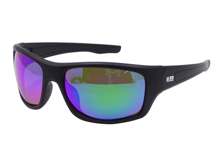 Moana Rd Tradies Sunnies - Black with Reflective Lens #612