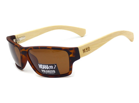 Moana Rd Tradies Sunnies - Tortshell with Wooden Arms #3750