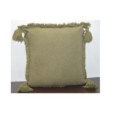 Moni Stonewash Cushion - Military Green - 50x50cm