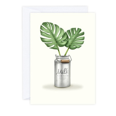 Monstera Leaves Greeting Card