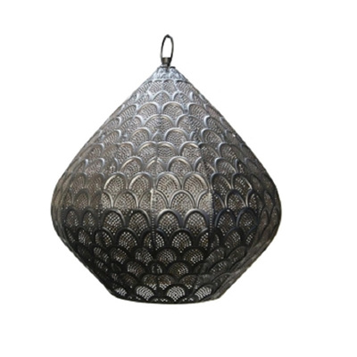 Moroccan Lamp Shade/Long - Black