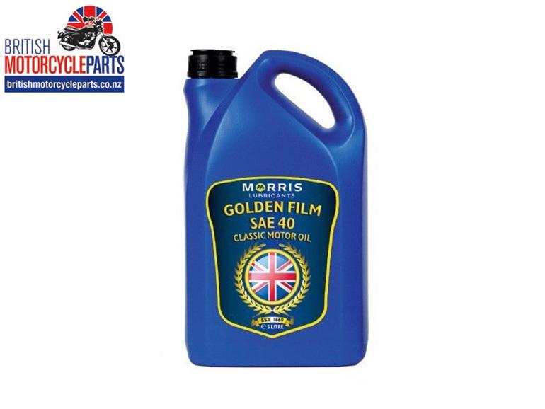 Morris Lubricants Golden Film SAE 40 Classic Engine Oil - British MC Parts NZ