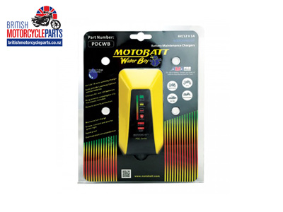 Motobatt Waterproof Battery Charger Water Boy 6/12V 1.0A