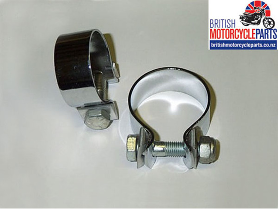 Motorcycle Muffler Clamp 1 3/4 Inch - British Motorcycle Parts Ltd - Auckland NZ
