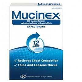 Mucinex 600mg 20 Tabs