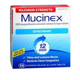 Mucinex Expectorant 1200mg - 14 tablets