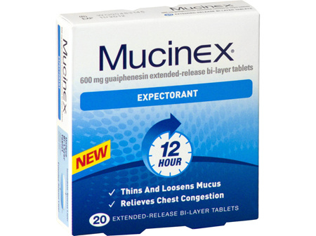 Mucinex Expectorant 600mg - 20 tablets
