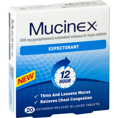 Mucinex Expectorant 600mg - 20 tablets