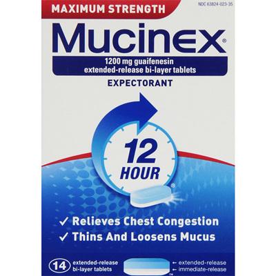 Mucinex Max. Strength 1200mg 14