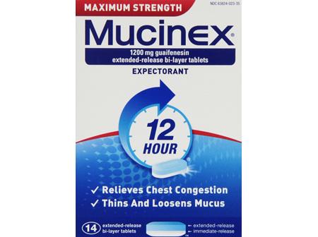 MUCINEX TAB 1200MG MAXIMUM STR