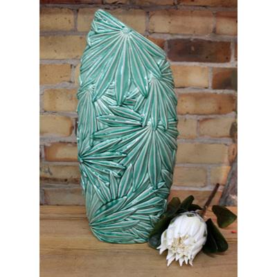 Multi Palm Leaf Vase - Green - Large