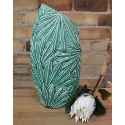 Multi Palm Leaf Vase - Green - Medium