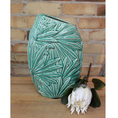 Multi Palm Leaf Vase - Green - Small