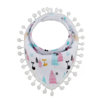 Multicolour Fox Tassle Bandana Bib