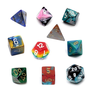 'Multicoloured' Polyhedral Dice